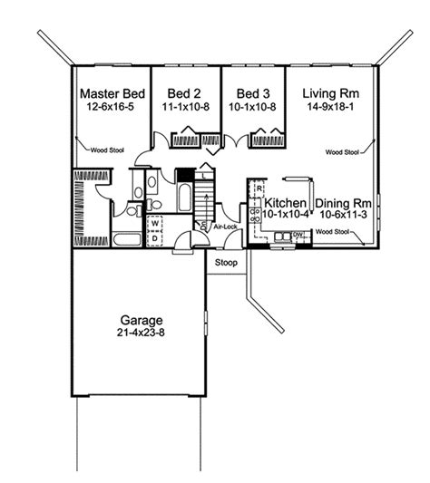 berm home floor plans crestbrook berm ranch home plan 008d 0023 house plans and more