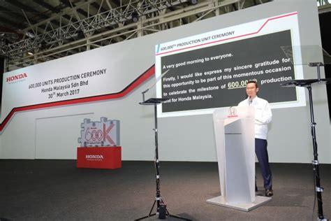 Strategi Bahasa Assembler honda malaysia kejayaan pengeluaran ke 600 000 unit berazam terus komited dalam pasaran