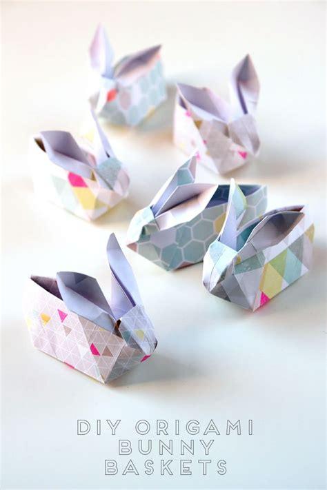 Origami Easter Bunny - diy origami easter bunny baskets inspiration diys and
