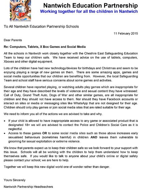 Report Letter To Parents Teachers To Report Parents If Children Play Grand Theft Auto Or Call Of Duty Daily Mail