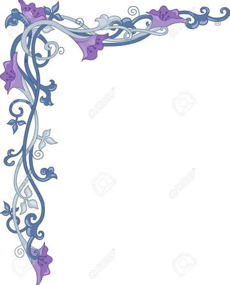 fiori clip ornamental clipart flower vine pencil and in color