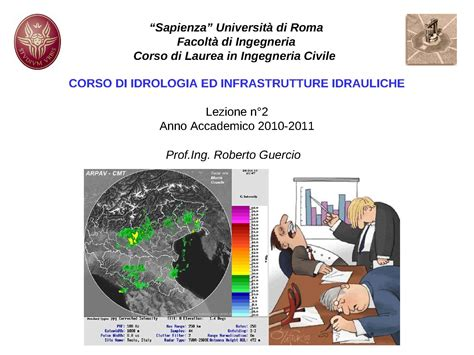 idrologia dispense precipitazioni misurazioni statistiche dispense