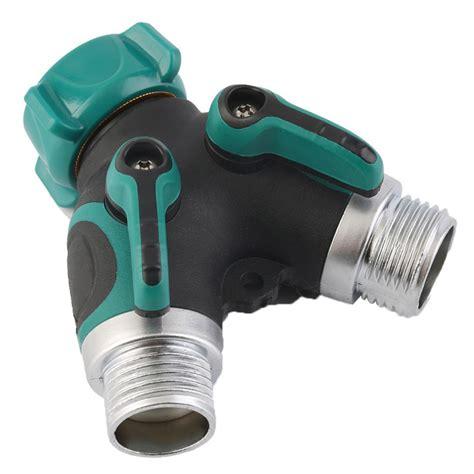 3 4 inch garden hose 2 way splitter valve water pipe