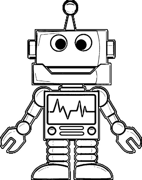 coloring page of robot coloring pages robot coloring home