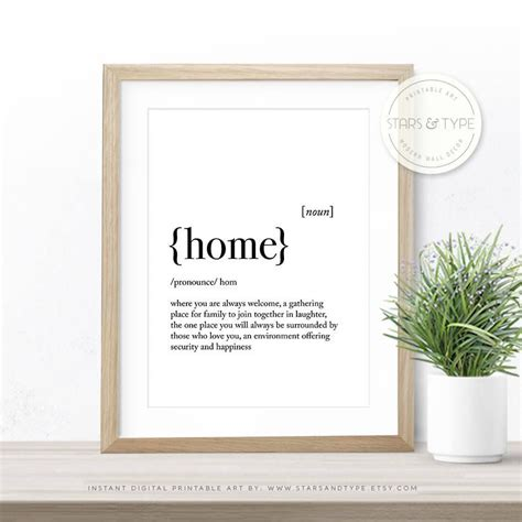 home decor definition home dictionary definition meaning quote art printable