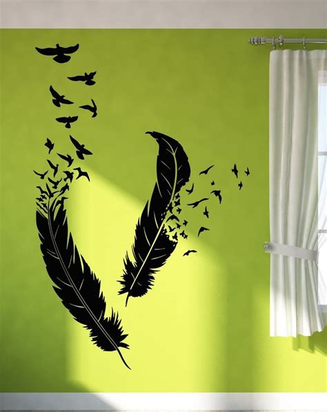 Sticker Wallpaper Flying Feather 17 best images about room decor on trees feathers and wall stickers