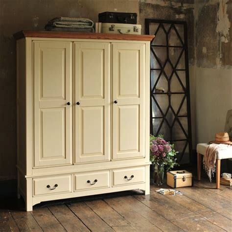 westbury bedroom furniture westbury painted cream triple wardrobe j836 with free