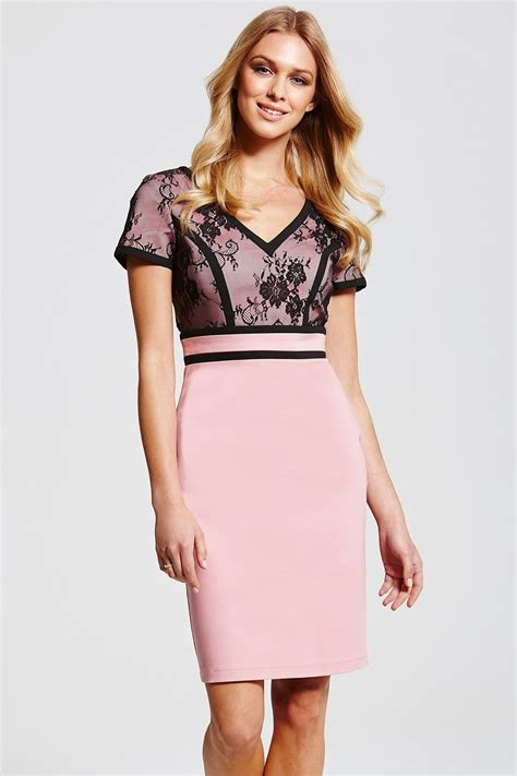 dress lace pink black outlet paper dolls pink and black lace top dress outlet
