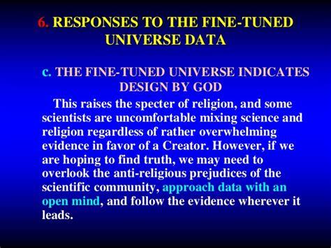 A Tuned Universe 6 the tuned universe