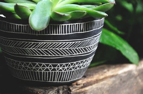 black and white planters fresh decor finds from 5 stylish etsy shops