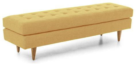 yellow bedroom bench eliot bench bentley daisey yellow midcentury