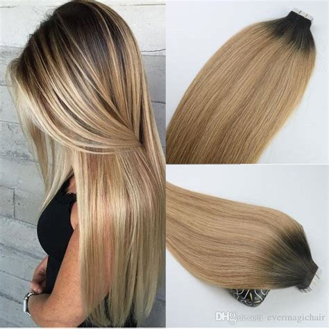 ombre weave hair st tape in human hair extensions ombre hair brazilian virgin