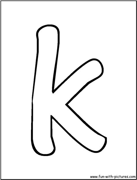 letter k coloring pages | Only Coloring Pages K