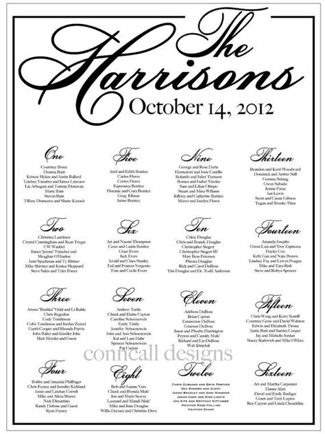 Table Assignment Cards Templates by Wedding Seating Chart Reception Seating Seating Board