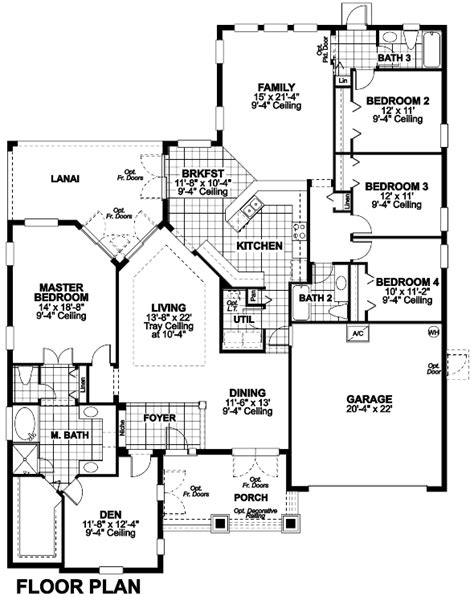 stockbridge single family home floor plan in groveland fl