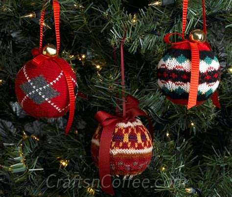 upcycled sweater christmas ornaments