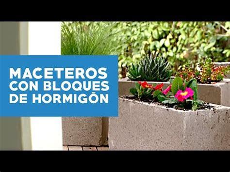 como hacer un album fotos para el jardin 191 c 243 mo hacer maceteros con bloques de hormig 243 n youtube
