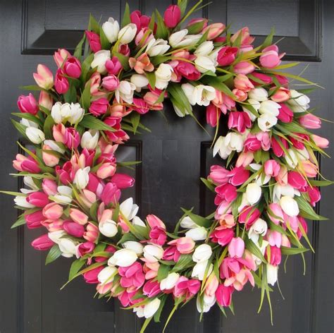 spring wreath spring tulip wreath wreaths pinterest