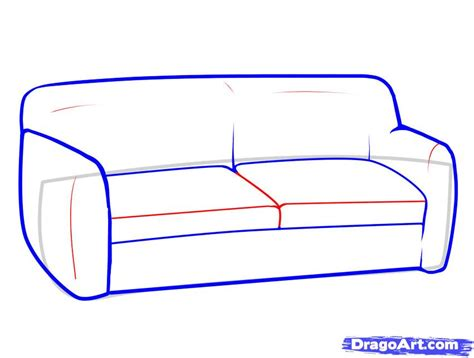 how to draw a 3d sofa how to draw furniture step by step stuff pop culture