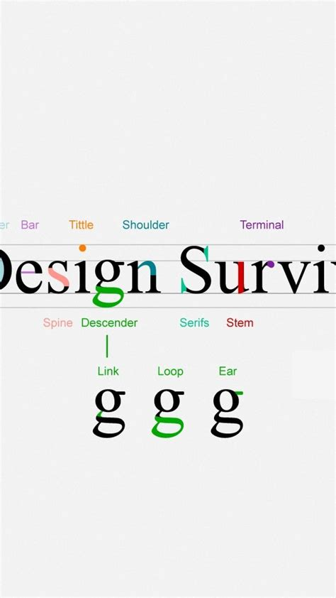 typography diagram design typography lines information diagram survival