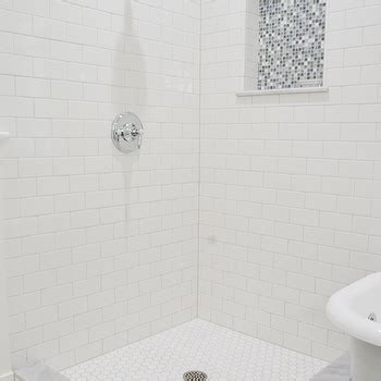 Tiled Showers With Bench Blue Gray Subway Tile Shower Design Ideas