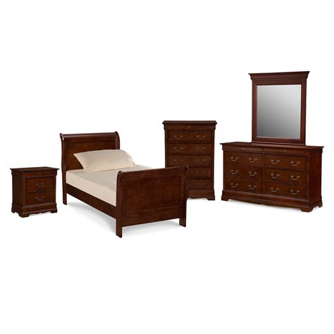 twin bedroom set neo classic youth 7 piece twin bedroom set cherry