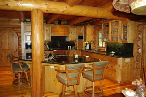 Log Cabin Kitchen Islands by Counter Top For Log Cabin Kitchen Home Design And Decor Reviews