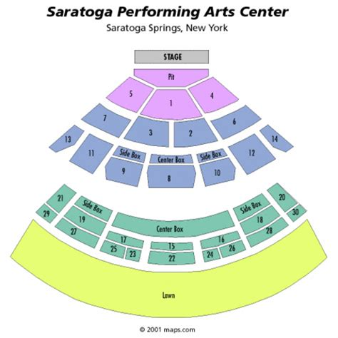 spac seating chart with numbers saratoga performing arts center seating chart saratoga