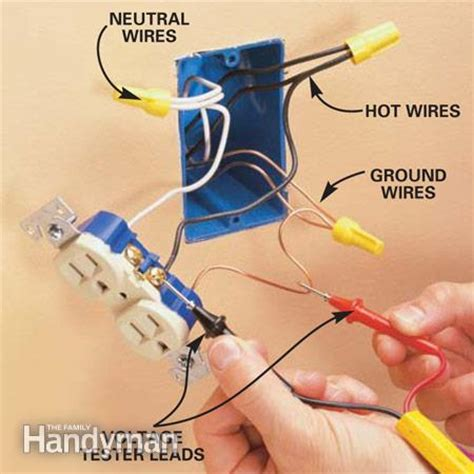 wiring an outlet add an electrical outlet the family handyman