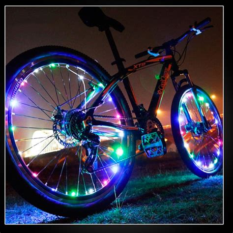 lights on wheels of a bicycle light up bicycle wheel lights