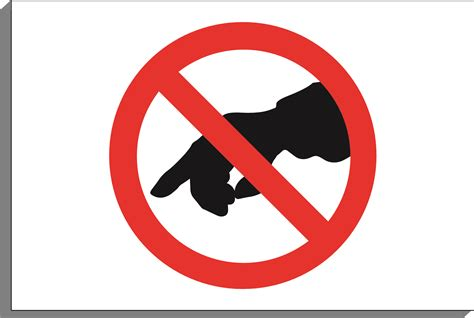 No Touching no touch clipart clipground