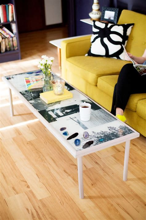 resin table top diy how to create a diy epoxy resin photo coffee table