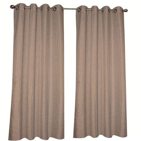 brown grommet curtains home decorators collection brown grommet curtain 52 in