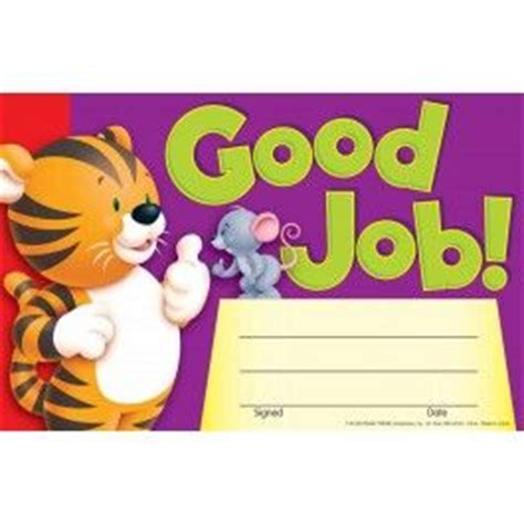 good job school awards recognition certificate pad
