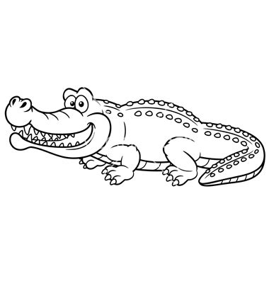 Crocodile Image Outline by Alligator Outline Clipart Clipart Suggest