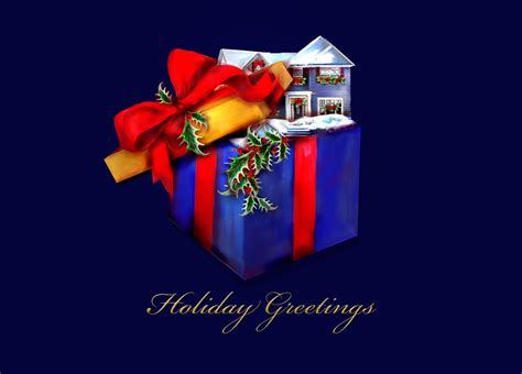 gift  home realtor christmas card real estate  brookhollow