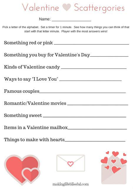 day activities for couples free printable scattergories for