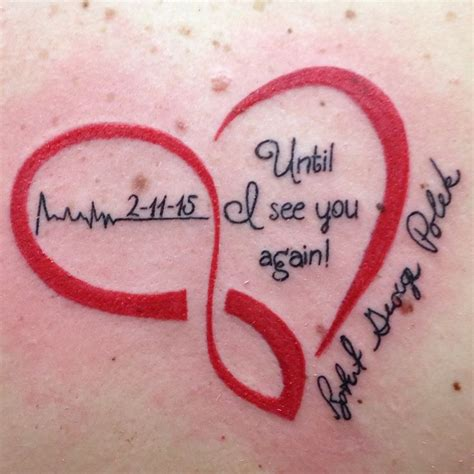 heartbeat memory tattoo 20 best heart shaped memorial tattoos images on pinterest