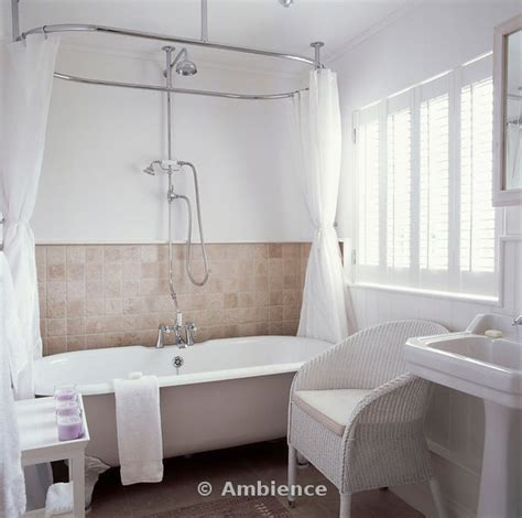 clawfoot bath shower curtain rail 17 best images about bathroom on pinterest rustic
