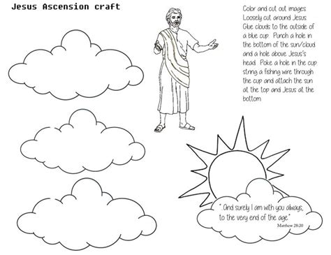 sunday school coloring pages jesus ascension 17 best images about ascension on maze to