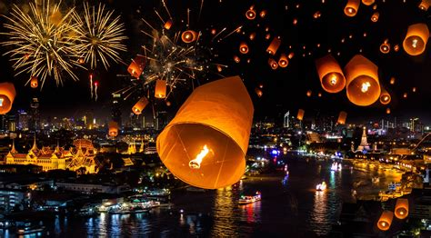 new year in thailand thailand bangkok bagkok fireworks city new year wallpaper