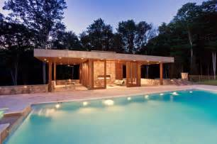 house with a pool modern pool house