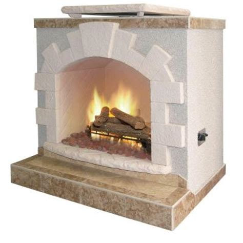 Outdoor Lp Gas Fireplace by Cal 48 In Propane Gas Outdoor Fireplace Frp906 2 1 The Home Depot