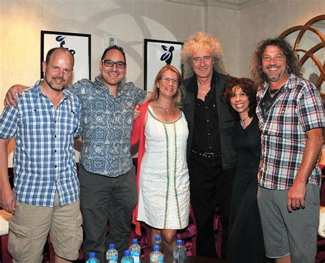 brian may family brian may of queen visits quot o quot by cirque du soleil
