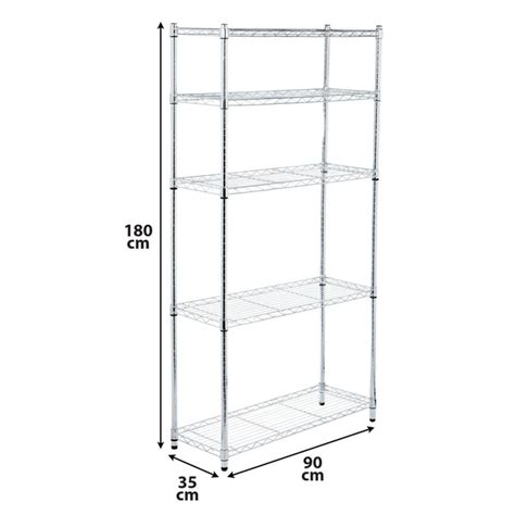 estante spaceo estante multiuso a 231 o cromado 4 nichos prata 180x90x35cm