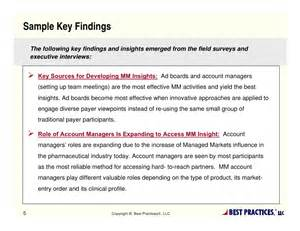 Field Inspection Report Template managed markets market research payer access amp insight