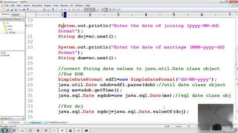 tutorial java sql 30 advanced java tutorial jdbc insert string date