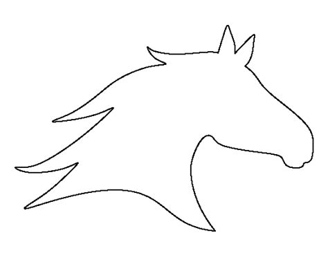 horse head pattern use the printable outline for crafts
