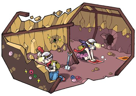 Geology Art underground illustration characters amp art pok 233 mon