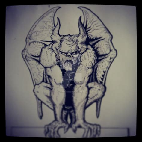 evil gargoyle by manicart666 on deviantart